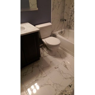 SomerTile 18x18-inch Classic Calacatta Ceramic Floor and Wall Tile (Case of 5)