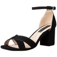 STEVEN by Steve Madden Womens Voomme Leather Open Toe Casual Ankle Strap Sand...