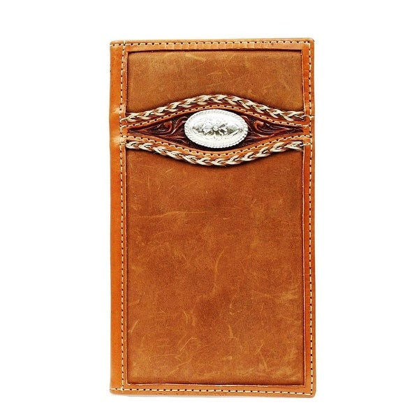 Ariat Western Wallet Mens Rodeo Overlay Braid Medium Brown - One size
