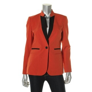 Nine West Womens One-Button Contrast Jacket - 6
