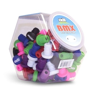 Odi BMX Bicycle Handlebar End Plug - Candy Jar of 100 - Assorted Colors - F72EPJ