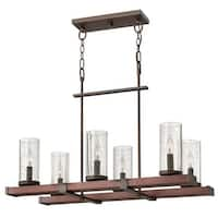 Fredrick Ramond FR40206 6-Light 1 Tier Chandelier from the Jasper Collection - Rustic Iron