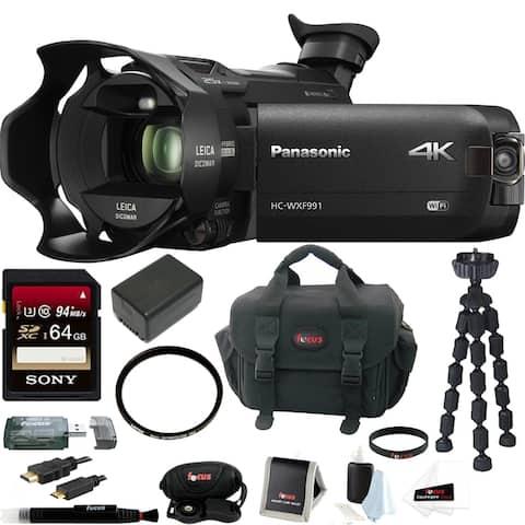 Panasonic HC-WXF991K Ultra HD Camcorder w/ Twin Camera & 64GB Bundle