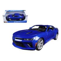 2016 Chevrolet Camaro SS Blue 1/18 Diecast Model Car by Maisto