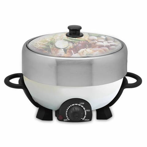 Electric Stainless Steel 4L Stew Cooker with Grill Function