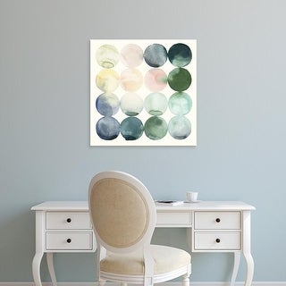 Easy Art Prints Grace Popp's 'Pastel Hoops II' Premium Canvas Art