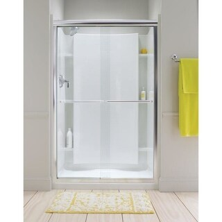 """Sterling 5375EZ-57 Finesse 70-5/16"""" x 57-1/2"""" Frameless Sliding Shower Door with Clear Glass and Clean Coat"""