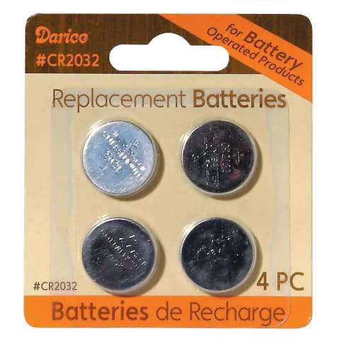 Pack of 4 Lithium Button Cell CR2032 Replacement Batteries