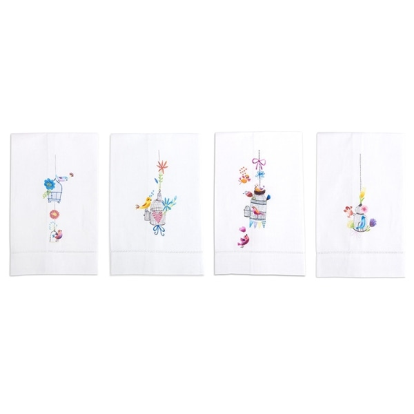 A Bird in the Hand Linen Tea Towel, Set of 4