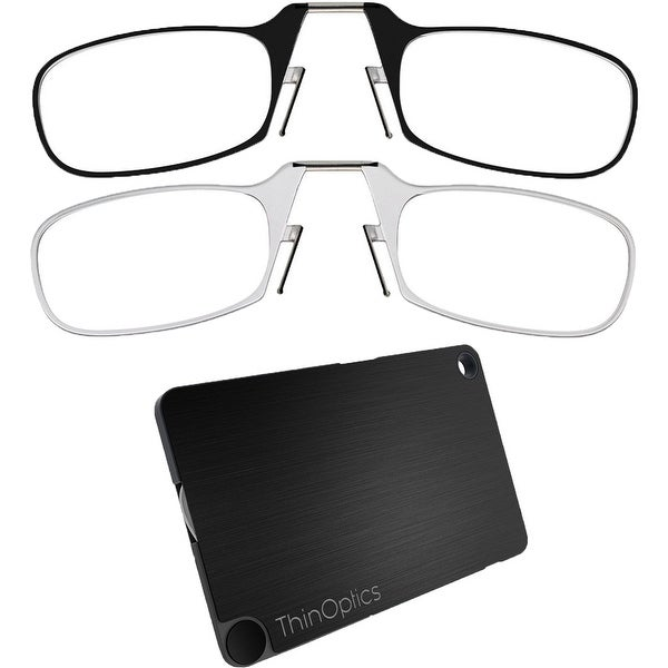 17d5fa2019a Shop ThinOptics Secure Fit Armless Ultralight Reading Glasses with  FlashCard Case - Free Shipping On Orders Over  45 - Overstock - 25695651