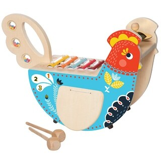 Manhattan Toy Rocking Musical Chicken Xylophone - Multiple Instruments in One
