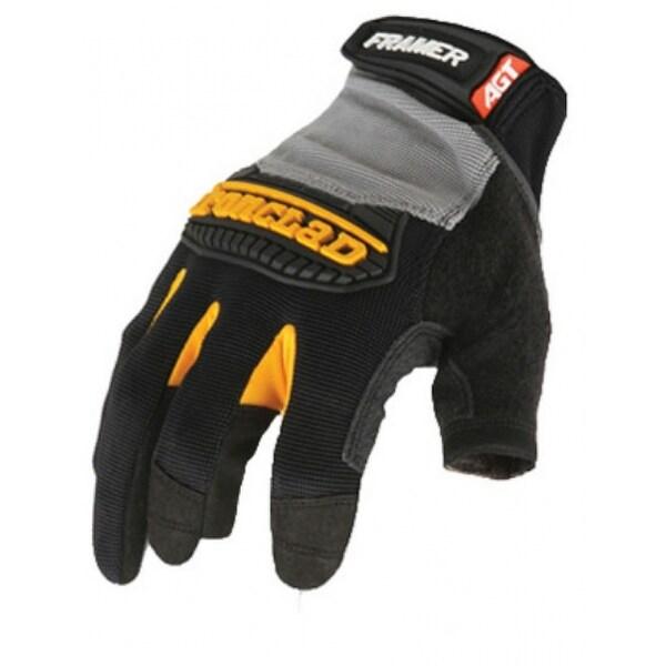 Ironclad  Black//Gray  Men/'s  Medium  Synthetic Leather  Heavy Duty  Gloves