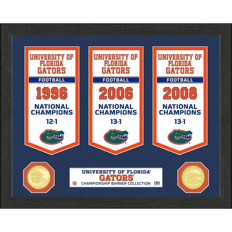 University of Florida National Champions Banner Collection Photo Mint - 12x15