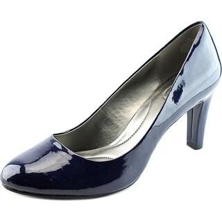 Bandolino Lantana Women Round Toe Synthetic Blue Heels