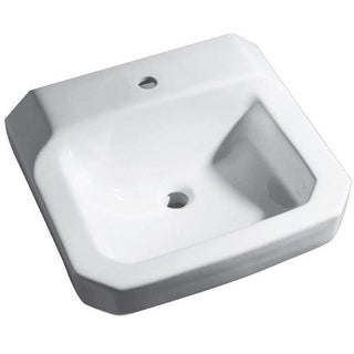 "Proflo PF5411 19"" Wall Mounted Bathroom Sink with 1 Hole Drilled"