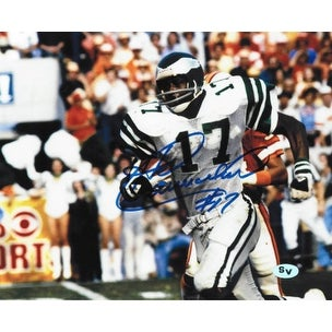 new products 7bf9f 93f30 Harold Carmichael signed Philadelphia Eagles 8x10 Photo 17 horizontal white  jersey