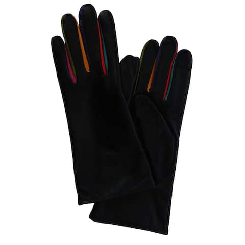 ILI Women's Tech Leather Glove with Multi Color Inlay