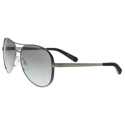 Michael Kors MK5004 101311 Gumnetal/ Black Aviator Sunglasses - 59-13-135