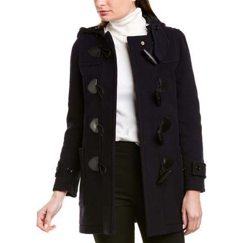 Burberry Duffle Wool-Blend Trench Coat