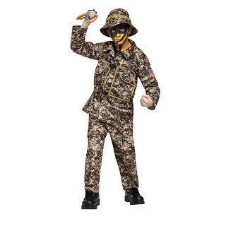 Boys Desert Commando Halloween Costume - small (size 4-6)