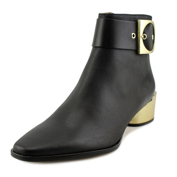 Calvin Klein Andrina Women Square Toe Leather Ankle Boot