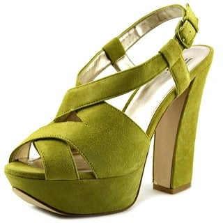 Pelle Moda Billow Women Open Toe Suede Platform Sandal