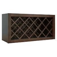 "Sunny Wood HBW3015WR  Healdsburg 30"" x 15"" Wine Bottle Rack Wall Cabinet - Rich Walnut"
