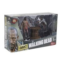 The Walking Dead Deluxe Action Figure Set Morgan Impaled Walker and Spike Trap - multi
