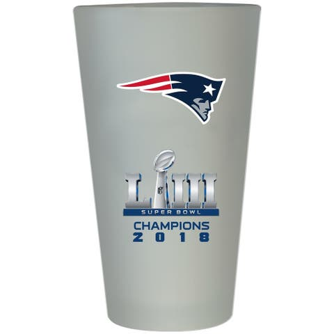 New England Patriots Super Bowl LIII Champions Frosted Pint Glass