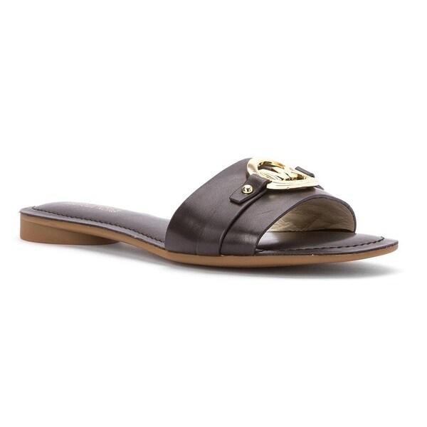 MICHAEL Michael Kors Womens molly Open Toe Casual Slide Sandals