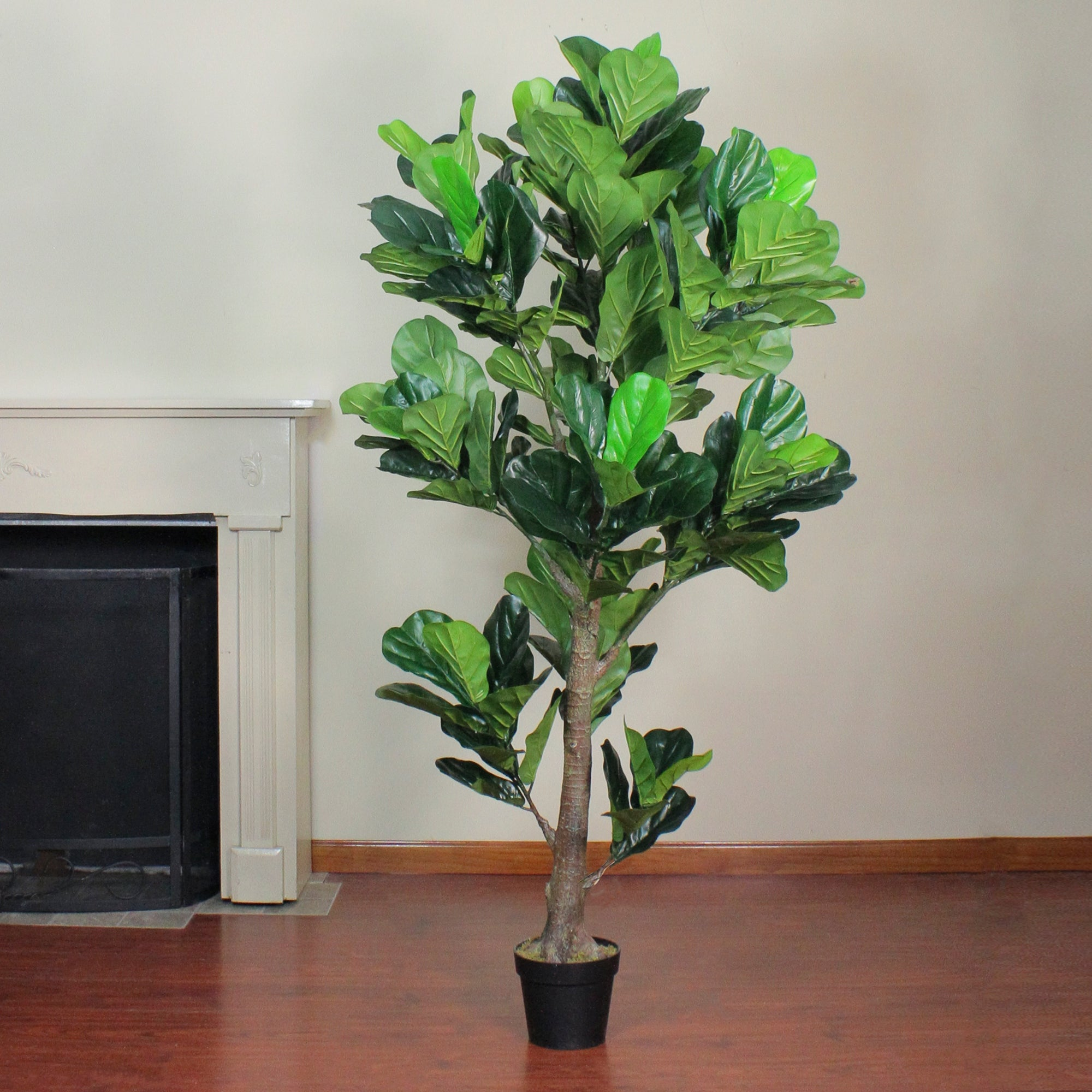 6 1 Potted Green Artificial Fiddle Leaf Fig Tree Unlit Overstock 29197889