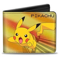Pikachu Attack Pose + Pokmon Yellows Bi Fold Wallet - One Size Fits most
