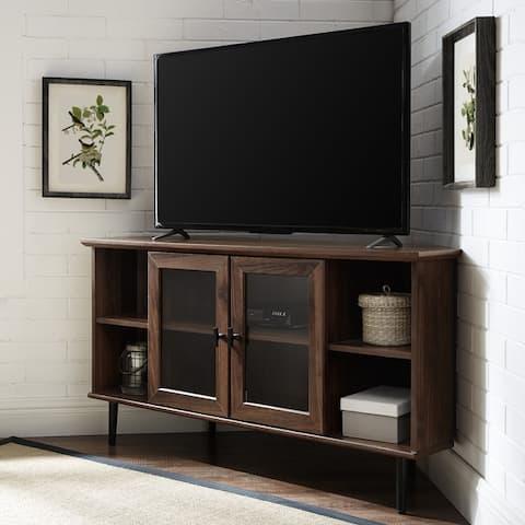 Carbon Loft 48-inch Glass Door Corner TV Console