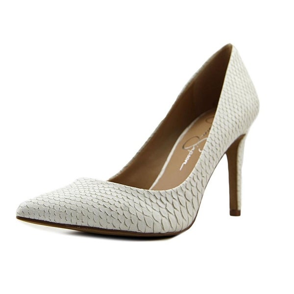 1bf6be1bcf5 Shop Jessica Simpson Levin Women Pointed Toe Synthetic White Heels ...