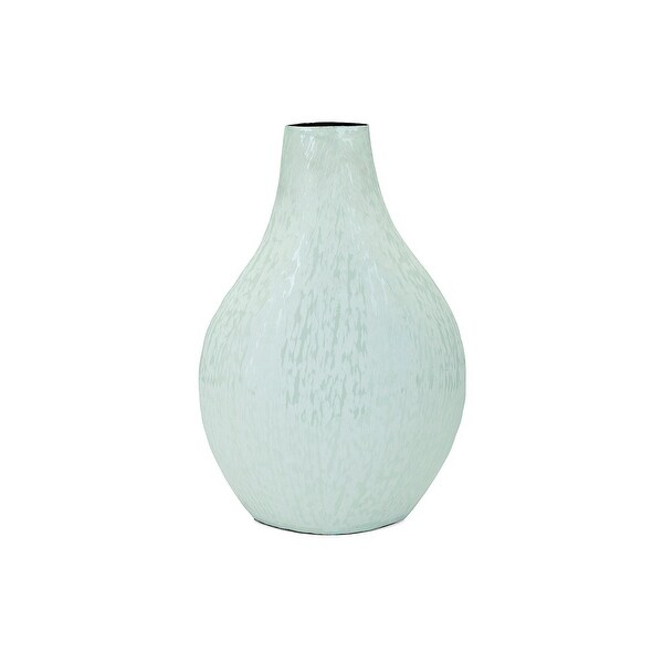 "15.5"" Green Enamel Shiny Finish Vase - N/A"