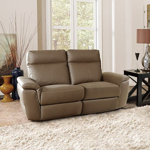 Southgate Leather Power Double Reclining Loveseat