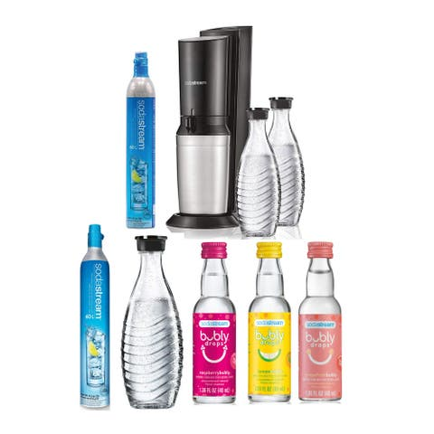 SodaStream Aqua Fizz Sparkling Water Machine with Carbonator Bundle - 6 x 10.83 x 17.32 in