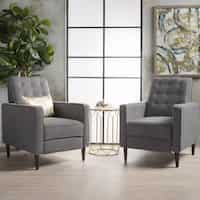 Deals on Strick & Bolton Simone 2-pc Mid-Century Recliner Club Chair Set
