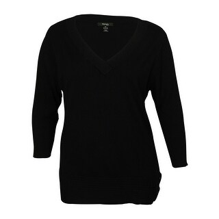 Style & Co Women's V-Neck Buckle Detailed Sweater