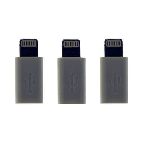 VisionTek 900816 Visiontek Micro USB to Lightning Tip Adapter 3 Pack (White) (900816) - 3 Pack - 1 x Lightning Male Proprietary