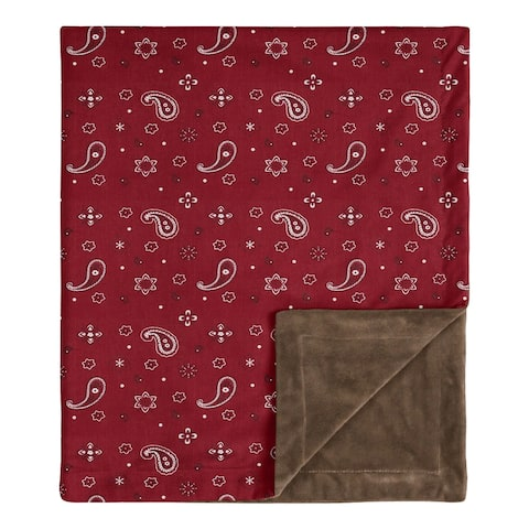 Wild West Bandana Collection Boy Baby Receiving Security Swaddle Blanket - Red Western Southern Country Cowboy