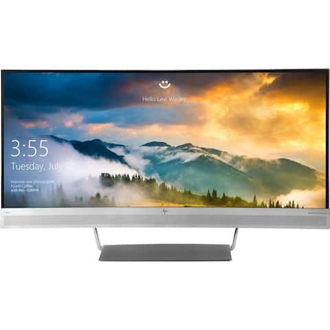 """HP S340C 3440 x 1440 34"""" Curved LCD Monitor,Black"""