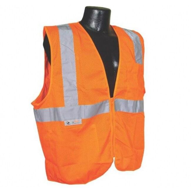 Radians SV2ZOML Class 2 Economy Mesh Safety Vest With Zipper, Orange, Large