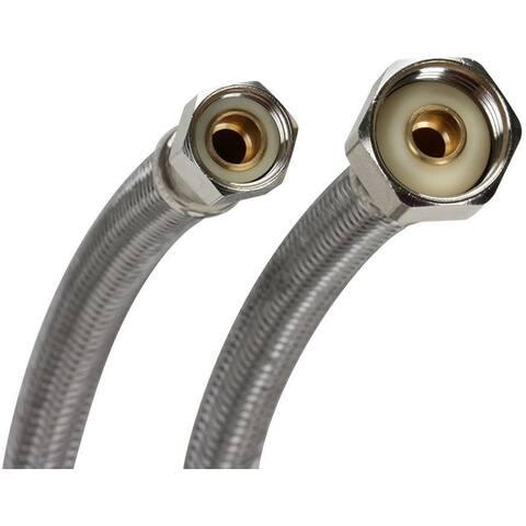 """Fluidmaster PRO1F36 36"""" Faucet Connection Hose, 3/8"""" Female Compr"""