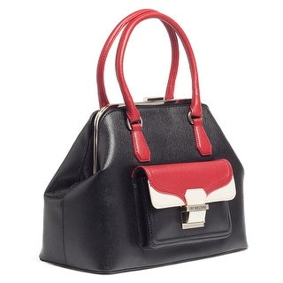 Moschino JC4148 000A Black/Red/Ivory Vintage Satchel - 14-12-7
