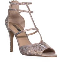 I35 Raechie2 Peep Toe T Strap Sandals, Light Rose - 10 us