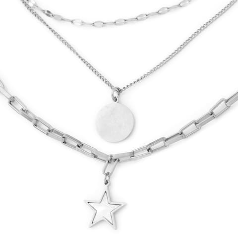 Women Mother of Pearl Chain Necklace Gift Jewelry Size 15.50 In - Size 15.50''