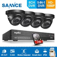SANNCE 1080P HD 8ch 5-in-1 DVR Video CCTV Surveillance Camera System