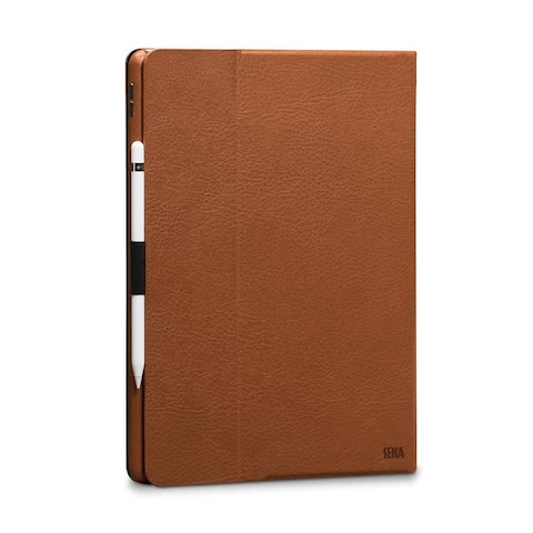 SENA Cases Vettra Leather Folio Case for iPad Pro 12.9 in. (2017) Tan - SHD30106NPUS