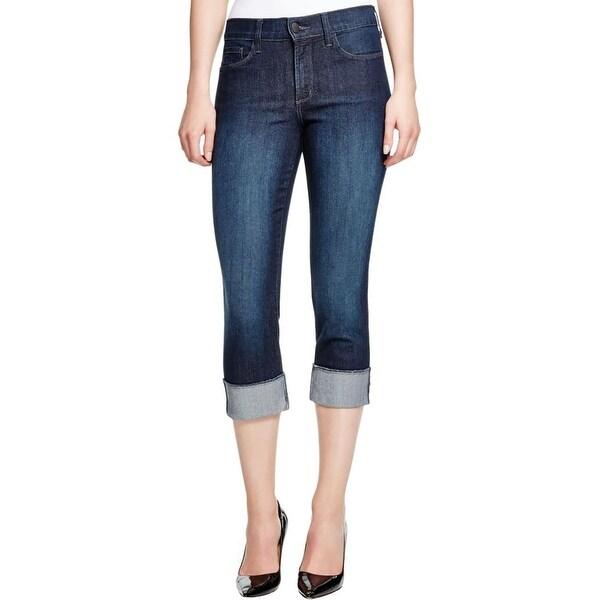 NYDJ Womens Capri Jeans Slimming Medium Wash